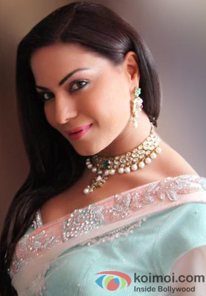 Veena Malik in a saree
