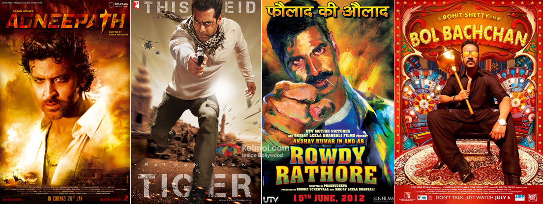 Agneepath, Ek Tha Tiger, Rowdy Rathore and Bol Bachchan Movie Posters