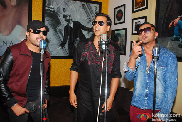 Himesh Reshammiya, Akshay Kumar And Honey Singh at an event