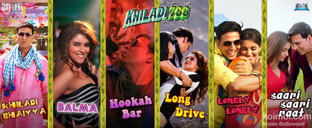 Akshay Kumar and Asin in a still from Khiladi 786 Movie Songs
