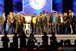 Cyrus Broacha, Mahendra Singh Dhoni, Sachin Tendulkar, Harbhajan Singh, Ishant Sharma, N Srinivasan, Zaheer Khan, Pragyan Ojha, Cheteshwar Pujara At The Cricket Club Of India celebrates 75 years