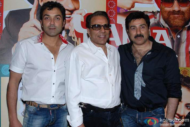 Bobby Deol, Dharmendra and Sunny Deol