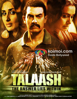 Kareena Kapoor, Aamir Khan And Rani Mukerji In Talaash Movie Poster