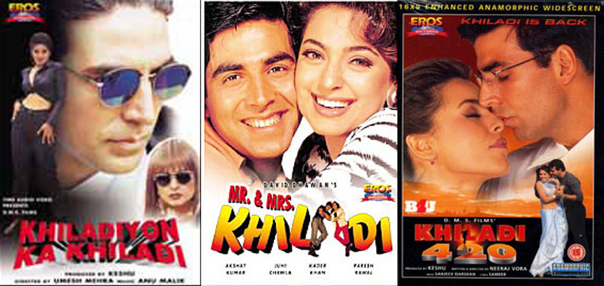 Khiladiyon Ka Khiladi, Mr. & Mrs. Khiladi And Khiladi 420 Movie Posters