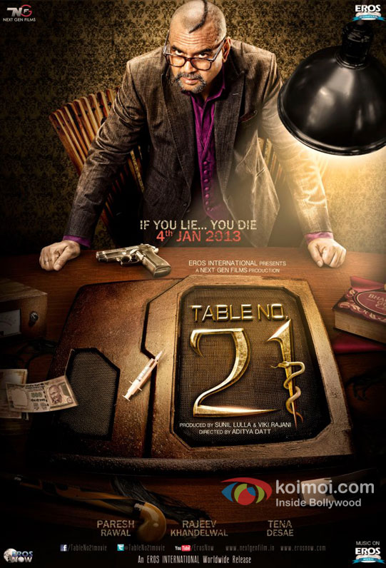 Paresh Rawal in the first look teaser poster of Table No. 21