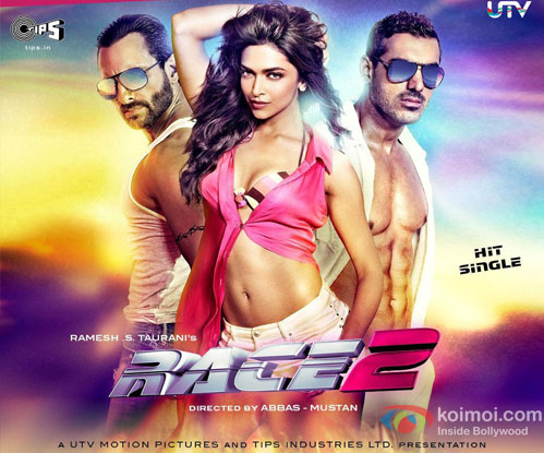 Saif Ali Khan, Deepika Padukone and John Abraham from Party On My Mind Song in Race 2 Movie