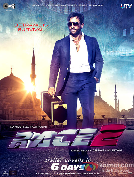 Saif Ali Khan in Race 2 Movie First Look Poster