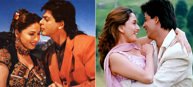Shah Rukh Khan And Madhuri Dixit in a still from Koyla & Dil To Pagal Hai Movie
