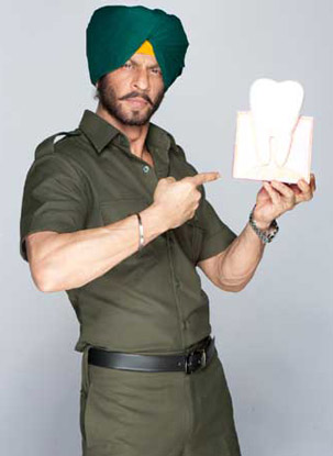 Shah Rukh Khan in a still from Pepsodent ad