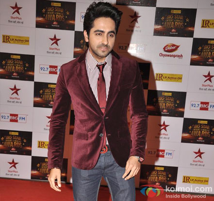 Ayushmann Khurrana At Big Star Entertainment Awards 2012