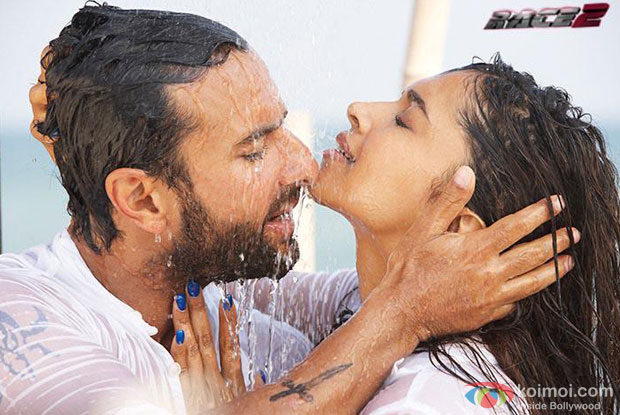 Saif Ali Khan and Deepika Padukone in Be Intehaan Song in Race 2 Movie Stills