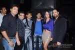 Bollywood actors Kamaal Rashid Khan, Raju Srivastav and Kashmira Shah with friends at Sambhavna Seth birthday party celebration in Mumbai