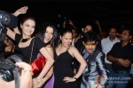 Bollywood actors Monica Bedi, Sambhavna Seth and Kamaal Rashid Khan at her birthday party celebration in Mumbai