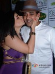 Bollywood actors Sambhavna Seth and Ravi Kishan at her birthday party celebration in Mumbai