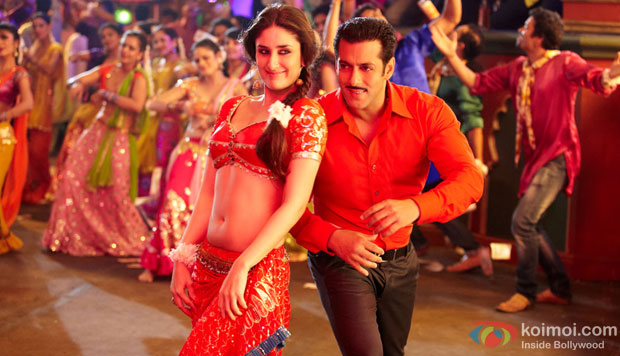 Salman Khan and Kareena Kapoor in a still from Dabangg 2 Movie