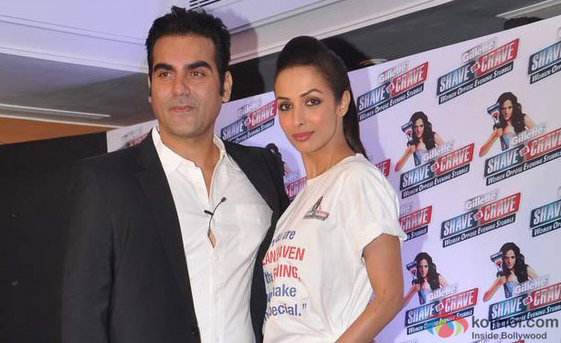 Arbaaz Khan and Malaika Arora Khan at Gillete's Shave or Crave Press Meet Event