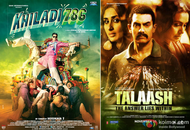 Khiladi 786 and Talaash Movie Poster