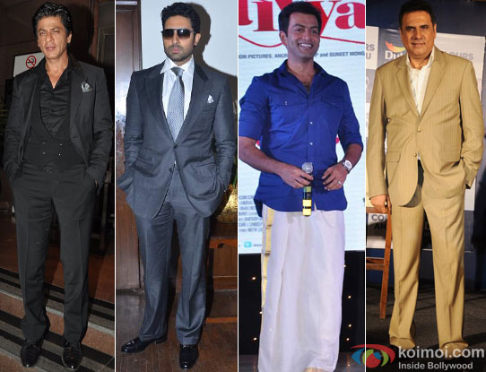 Shah Rukh Khan, Abhishek Bachchan, Prithviraj Sukumaran and Boman Irani for Happy New Year Movie