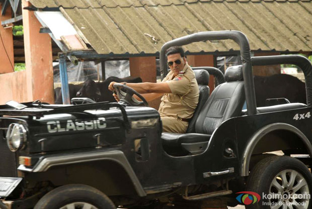 Akshay Kumar in a still from Khiladi 786 Movie