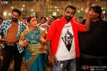 Prabhu Deva, Saroj Khan Remo D'Souza and Ganesh Acharya shake legs in 'Psycho Re' Song in ABCD – Any Body Can Dance Movie Stills