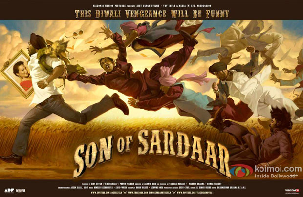 Son Of Sardaar Movie Poster Wallpaper