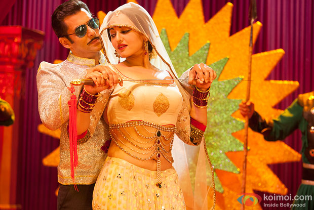 Salman Khan and Sonakshi Sinha in a still from Dabangg 2