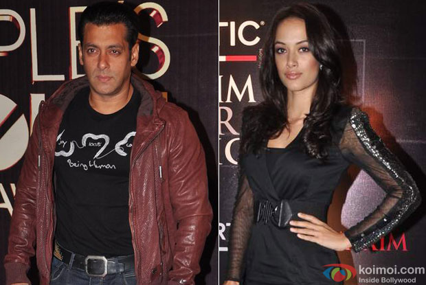 Salman Khan and Angela Jonsson for Sher Khan Movie