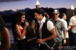 Some champagne for the couple Rajeev Khandelwal and Tena Desae in Table No. 21 Movie Stills