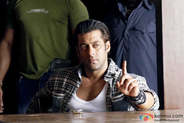 Salman Khan in a still from Wanted Movie