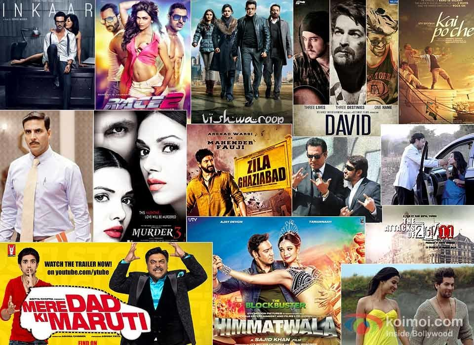 Inkaar, Race 2, Vishwaroop, David, Special Chabbis (26), Murder 3, Kai Po Che!, Zila Ghaziabad, The Attacks Of 26/11, Saheb Biwi Aur Gangster Returns, 3G, Jolly LLB, Mere Dad Ki Maruti and Himmatwala Movie