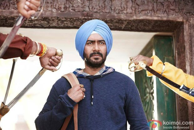 Ajay Devgn in a still from Son of Sardaar Movie