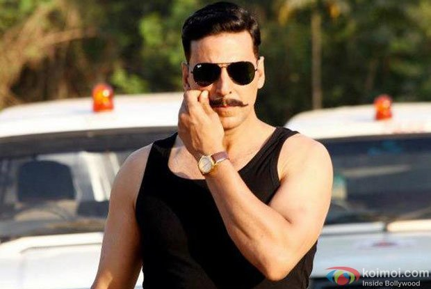Akshay Kumar in a still from Rowdy Rathore Movie