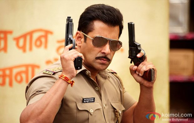 Salman Khan in a still from Dabangg 2 Movie