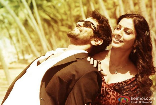 Vikram and Tabu in a still from David Movie