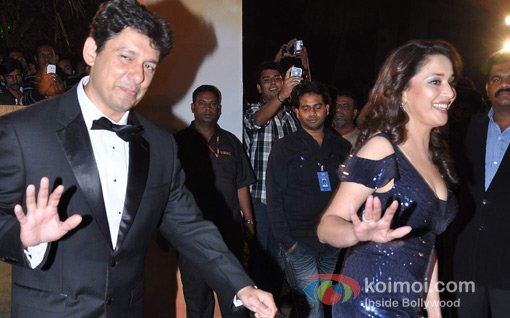 Dr.Sriram Nene And Madhuri Dixit At Walk The Red Carpet Of Filmfare Awards 2013
