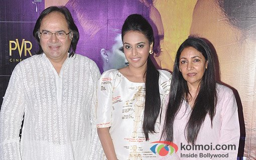 Farooq Shaikh, Deepti Naval And Swara Bhaskar at the first look of film Listen Amaya