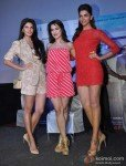 Jacqueline Fernandez, Ameesha Patel And Deepika Padukone at film Race 2 press meet