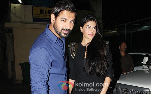 John Abraham And Jacqueline Fernandez At Race 2 Special Screening