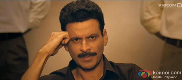 Manoj Bajpai in a still from Special Chabbis (26) Movie