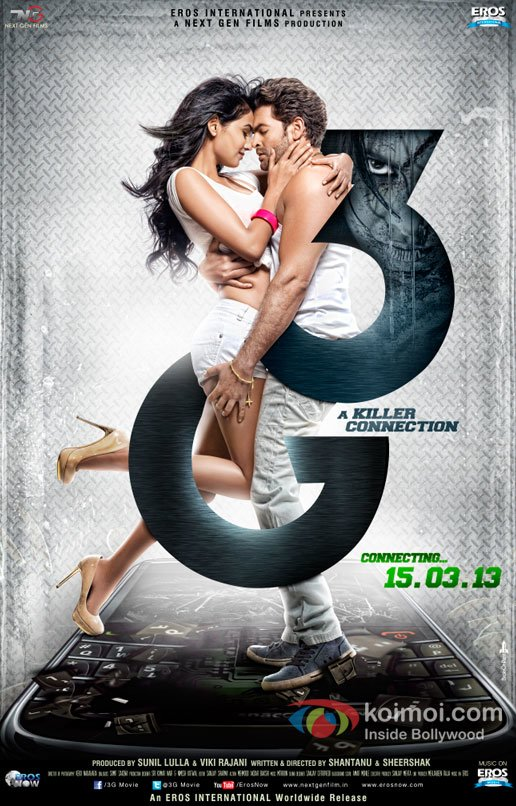 Neil Nitin Mukesh and Sonal Chauhan sizzle in the new 3G Poster