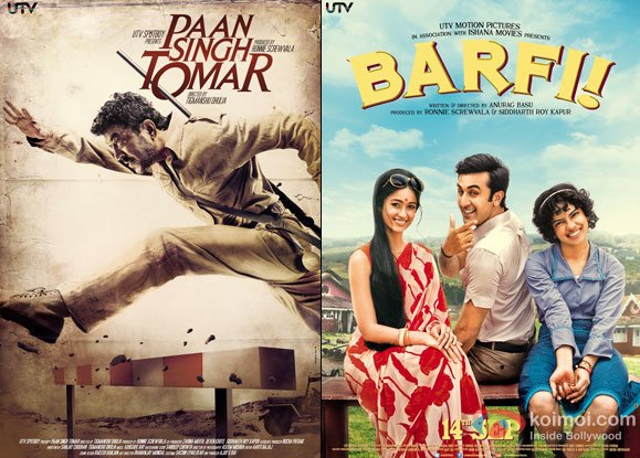 Paan Singh Tomar and Barfi! Movie Poster