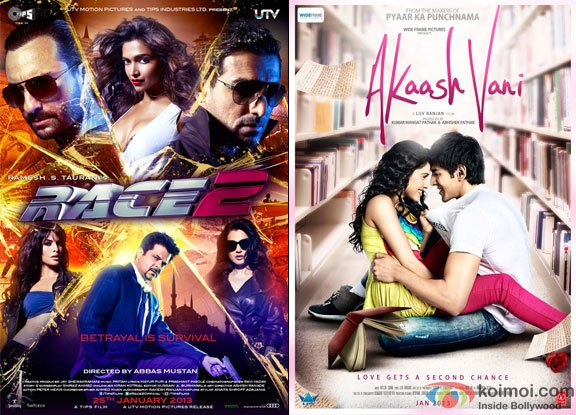 Race 2 and Akaash Vani Movie Poster