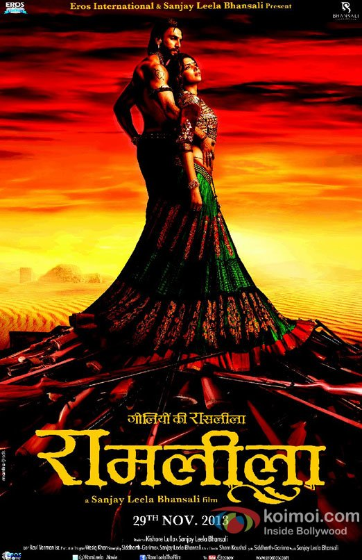 Ranveer Singh and Deepika Padukone starrer Ram Leela Movie First Look Poster