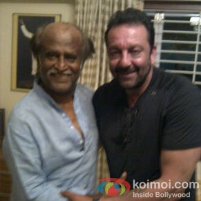 Sanjay Dutt with Rajinikanth