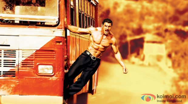 John Abraham in a still from Shootout At Wadala Movie