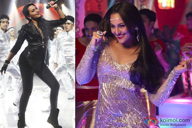Sonakshi Sinha in a retro avatar for the song Thank god it's Friday in Himmatwala Movie Stills