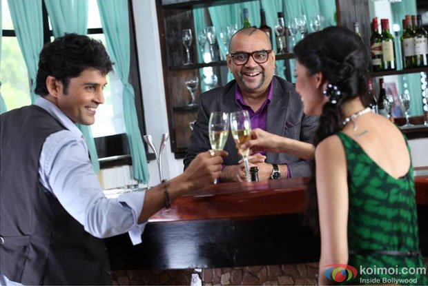 Rajeev Khandelwal, Paresh Rawal and Tena Desae in a still from Table No. 21 Movie