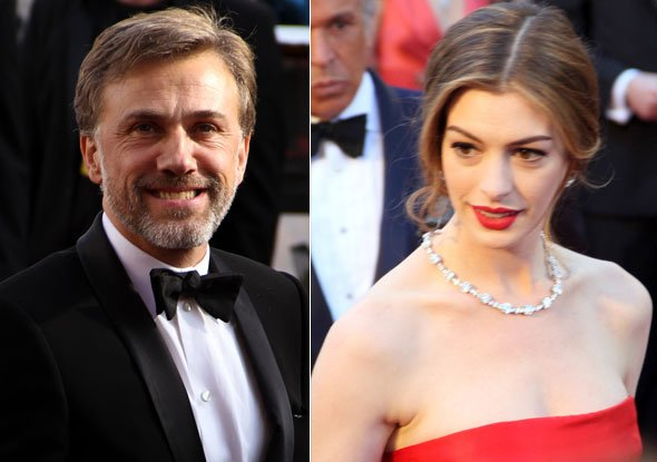 Christopher Waltz and Anne Hathaway