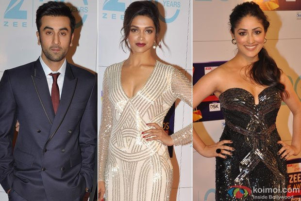 Ranbir Kapoor, Deepika Padukone and Yami Gautam At Zee Cine Awards Red carpet