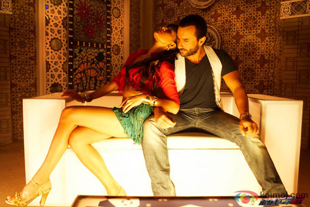 Jacqueline Fernandez and Saif Ali Khan in a still from Race 2 Movie